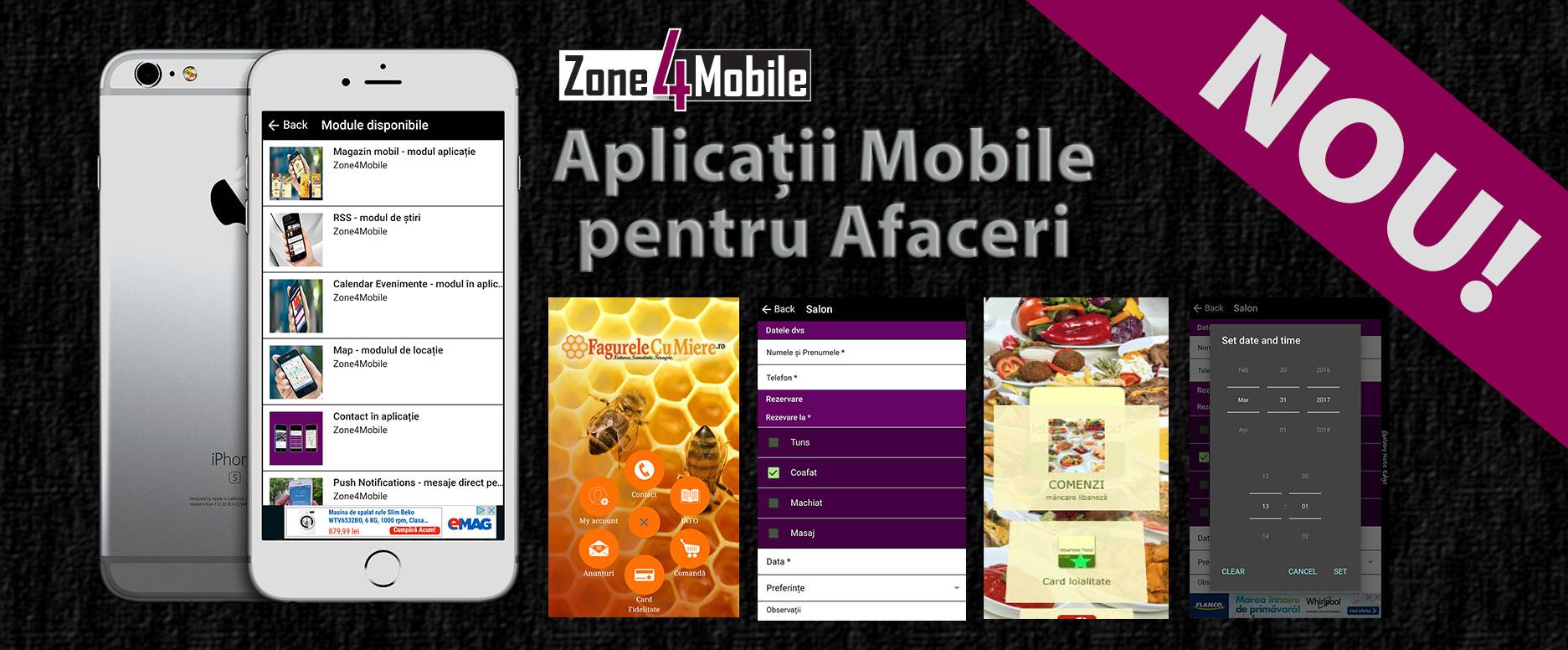 Creare aplicații mobile